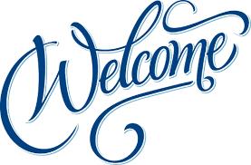 Welcome written in script font